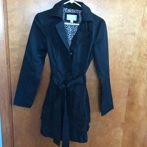 Long Black Jacket with Ruffles on the back